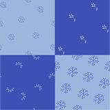 Damask Four Patterns Vector Royalty Free Stock Photos