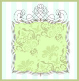 Damask frame Royalty Free Stock Images
