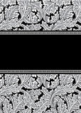 Damask frame Royalty Free Stock Photography