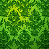 Damask green floral seamless pattern Royalty Free Stock Photography