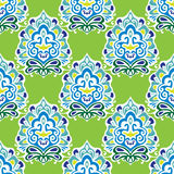 Damask  green vector abstract seamless pattern Royalty Free Stock Photography