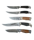 Damask hunting knifes Stock Photos