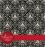 Damask invitation card Royalty Free Stock Photography