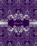 Damask invitation card Royalty Free Stock Image