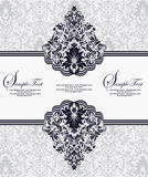 Damask invitation card. Greeting or invitation card design Stock Photos