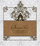 Damask invitation card. Greeting or invitation card design Royalty Free Stock Images