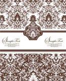 Damask invitation card Stock Photography