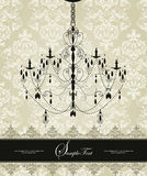 Damask invitation card Stock Photos