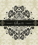 Damask invitation card Stock Photography