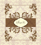 Damask invitation card Stock Images