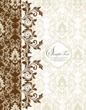 Damask invitation card Royalty Free Stock Photos