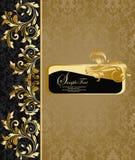 Damask invitation card Royalty Free Stock Photo