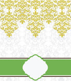 Damask invitation card Royalty Free Stock Images