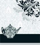 Damask invitation card Royalty Free Stock Image