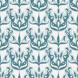 Damask  monochrome seamless pattern Royalty Free Stock Image