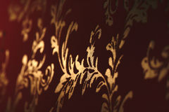 Damask old wallpapers Stock Photography