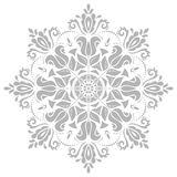 Damask Oriental Pattern. Damask floral pattern with oriental elements. Abstract traditional silver ornament Royalty Free Stock Images