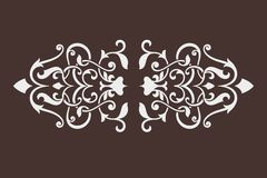 Damask ornament Stock Image