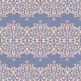Damask ornament, linen seamless background vector Royalty Free Stock Images