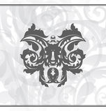 Damask ornamental background or wallpaper Royalty Free Stock Photography