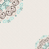 Damask ornamental corner frame Royalty Free Stock Photography