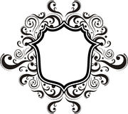 Damask ornamental emblem Royalty Free Stock Image