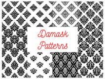 Damask ornate seamless patterns set Royalty Free Stock Photography