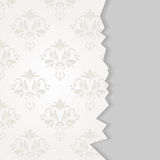 Damask page. Vector page with damask background and space for text Royalty Free Stock Photo