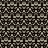Damask pattern stock illustration