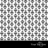 Damask pattern. Seamless vector black and white Royalty Free Stock Photos