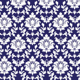 Damask pattern. Damask background pattern blue background Royalty Free Stock Photo