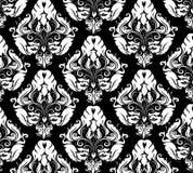 Damask pattern 2. Elegant hand-drawn vintage pattern vector illustration