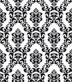 Damask Pattern. Damask Style Pattern Background - BW texture - Vector Include layer whit pattern design source stock illustration