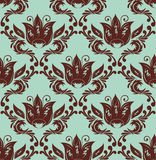 Damask pattern. Abstract illustration with flower Stock Photography