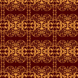 Damask pattern. Wallpaper Seamless stock illustration