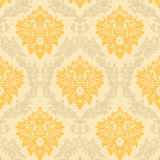 Damask pattern. Seamless damask on cream background Royalty Free Stock Images
