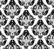 Damask pattern. Elegant hand-drawn vintage pattern stock illustration