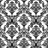 Damask Pattern Black and White Stock Photo