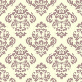 Damask Pattern Cream Stock Images