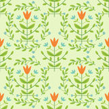 Damask pattern. Floral seamless decoratve damask pattern royalty free illustration