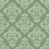 Damask Pattern Green Stock Images