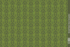 Damask Pattern Green Nature Composition Stock Image