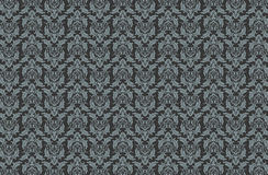 Damask Pattern Grey Shades Royalty Free Stock Images