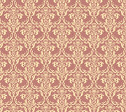 Damask pattern. Ornamental seamless vintage pattern with floral elements Royalty Free Stock Images