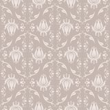 Damask pattern. Seamless floral beige damask pattern vector illustration Stock Images