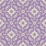 Damask pattern. Seamless violet and light damask pattern Royalty Free Stock Photos
