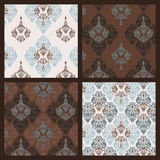Damask pattern. Set Stock Images