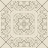 Damask pattern. Tile. Orient vector classic pattern. Seamless abstract background with repeating elements. Stock Photos