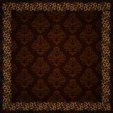 Damask pattern, vector background. Royalty Free Stock Image