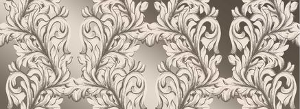 Damask pattern Vector illustration handmade ornament decor. Baroque glossy background textures. Damask pattern Vector illustration handmade ornament decor Royalty Free Stock Photography